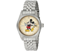 22774 Disney Limited Edition - Mickey Mouse Uhr Edelstahl Quarz Champagnerfarbe Zifferblat