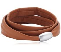 Damen Armband Edelstahl Leder 51607526G3