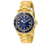 9312 Pro Diver Uhr Edelstahl Quarz blauen Zifferblat