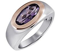 Ring 925 Sterling Silber rhodiniert Zirkonia violett