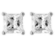 Ohrstecker 925 Silber rhodiniert Zirkonia weiß Rundschliff - ZO-7012