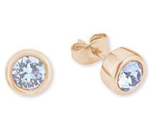 Ohrstecker Ohrringe basic vergoldet veredelt mit Swarovski Kristallen 6 mm
