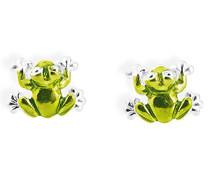Ohrstecker Froggy 925 Silber Brandlack LD FG 25 GR
