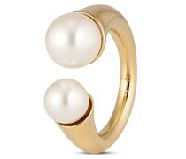 Ring Damenring Travel Pearls Vergoldet teilvergoldet Synthetische Perle Weiß
