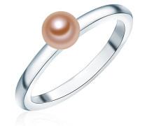 Ring 925 Silber rhodiniert Perle Süßwasser-Zuchtperle