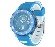 ICE aqua Malibu - Blaue Herrenuhr mit Silikonarmband - 001457 (Small)