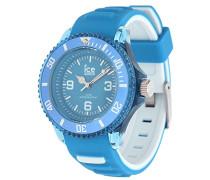 ICE aqua Malibu - Blaue Herrenuhr mit Silikonarmband - Chrono - 001461 (Medium)