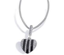 Halskette 925 Sterlingsilber 50 weiße Zirkonia Kettenanhänger Schmuck