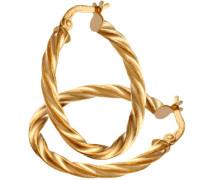 Ohrringe 375 Gelbgold 9 Karat 20 mm Diamantschliff