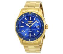 25811 Pro Diver Uhr Edelstahl Quarz blauen Zifferblat