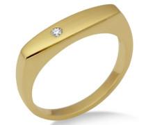 Ring 375 matt/glänzend Gelbgold Brillant 0.03ct