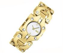 D&G Dolce&Gabbana Analog Quarz Uhr mit Edelstahl Armband DW0402