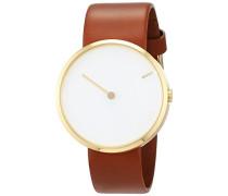 Herren-Armbanduhr Analog Quarz Leder 32254