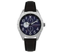 Multi Zifferblatt Quarz Uhr mit Leder Armband FC1313B