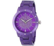 Quarzuhr Crazy Color lila