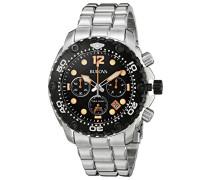 Armbanduhr Sea King Chronograph Quarz Edelstahl 98B244