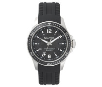 Analog Quarz Uhr mit Silikon Armband NAPFRB001
