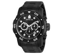 0076 Pro Diver - Scuba Uhr Edelstahl Quarz schwarzen Zifferblat