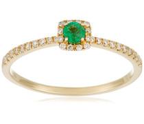 Ring 9 Karat (375) Gelbgold Smaragd-badm 07114-0001