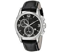 Chronograph Quarz Uhr mit Leder Armband H32612735