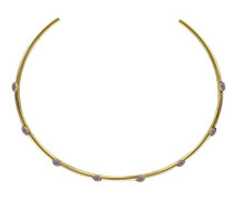 Jenny Drehmoment Halskette Messing 34 cm