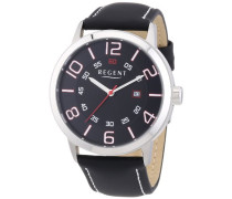 Herren-Armbanduhr XL Analog Quarz Leder 11110658