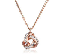 Damen Collier Vergoldet Kristall 601814071