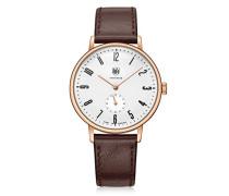 Analog Quarz Uhr mit Leder Armband DF-9001-05