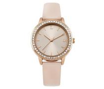 Datum klassisch Quarz Uhr mit PU Armband LP565