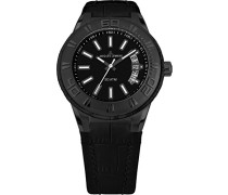 Armbanduhr Multi Zifferblatt Quarz Leder 1-1770J