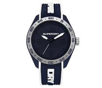 Analog Quarz Uhr mit Silikon Armband SYG213U