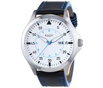 Herren-Armbanduhr XL Analog Quarz Leder 11110697