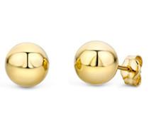 Ohrringe Gelbgold 14 Karat/585 Gold Ohrstecker Kugel