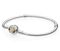 Armband 925 Silber teilvergoldet Zirkonia weiß 19 cm - 590741CZ-19