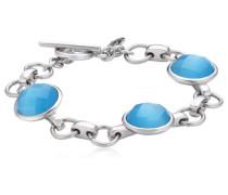 Armband Edelstahl Glas 19.0 cm S170 IPS BLUE