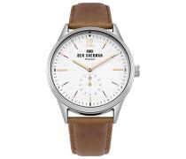 Datum klassisch Quarz Uhr mit Leder Armband WB015T