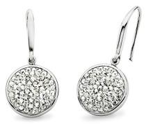 Ohrhänger rhodiniert veredelt mit Swarovski Kristallen 30 mm