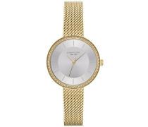 Analog Quarz Uhr mit Edelstahl Armband KC50198005