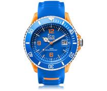 - ICE sporty Blue Orange - Blaue Herrenuhr mit Silikonarmband - 001331 (Extra Large)