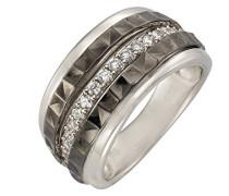 Celesta Silber Ring 925 Sterling Silber rhodiniert Zirkonia weiß Rundschliff