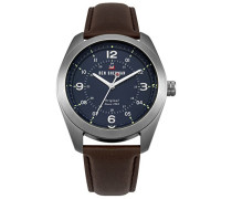 Datum klassisch Quarz Uhr mit Leder Armband WBS110UBR