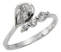 Ringe 925_Sterling_Silber zirkonia '- Ringgröße 58 (18.5) 358270606-058