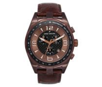 Herren-Armbanduhr Analog Quarz Leder DHH 005-5UU