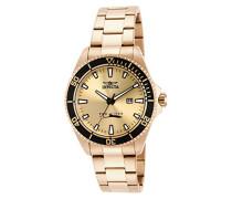 15186 Pro Diver Uhr Edelstahl Quarz goldenen Zifferblat