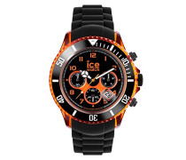 Ice Chrono electrik BK Orange - Schwarze Herrenuhr mit Silikonarmband - 013711 (Extra Large)