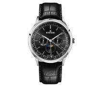 Analog Quarz Uhr mit Leder Armband 40101-3C-NIN