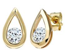 Ohrstecker Tränen Ohrringe 375 Gelbgold Diamant (0