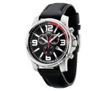 Armbanduhr XL Black Eagle Chronograph Leder R3271689002