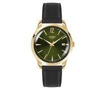Datum klassisch Quarz Uhr mit Leder Armband HL39-S-0100