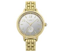 Datum klassisch Quarz Uhr mit Aluminium Armband LP583
